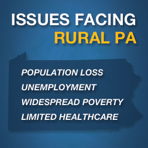 Issues facing rural Pennsylvania highlighted text