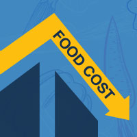 Decreasing hospital food costs - line graph