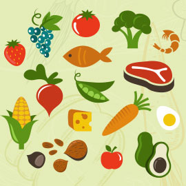 Miscellaneous healthy food items - image