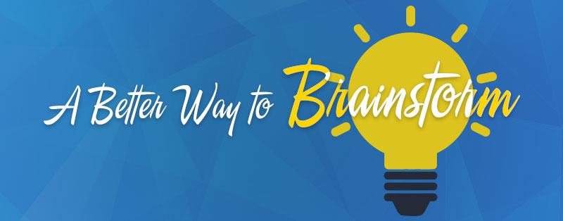 A Better Way to Brainstorm - header image
