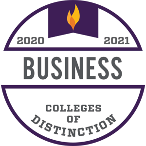 2020-2021 Colleges of Distinction Business badge