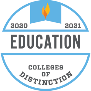 2020-2021 Colleges of Distinction Education badge